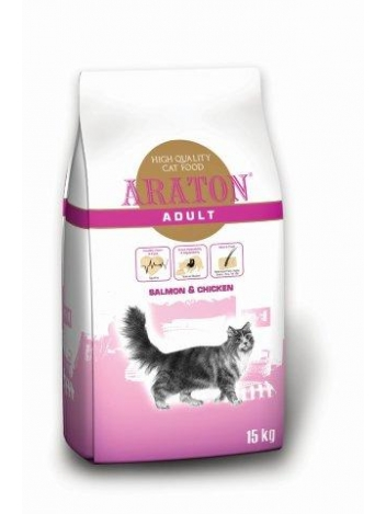 Araton Cat Adult Chicken & Salmon - 15kg