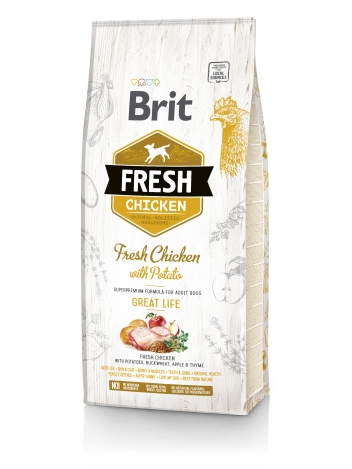Brit Fresh Adult Chicken & Potato - 12kg
