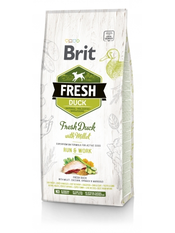 Brit Fresh Duck & Millet Run & Work - 12kg