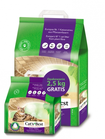 Cat's Best Smart Pellets - 10+2,5kg gratis (20+5l)