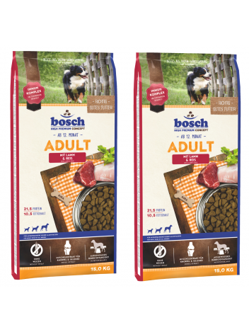 Bosch Adult Lamb & Rice - 2x15kg