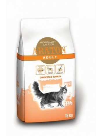 Araton Cat Adult Chicken & Turkey - 15kg