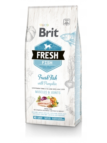 Brit Fresh Adult Large Breed Fish & Pumpkin - 12kg