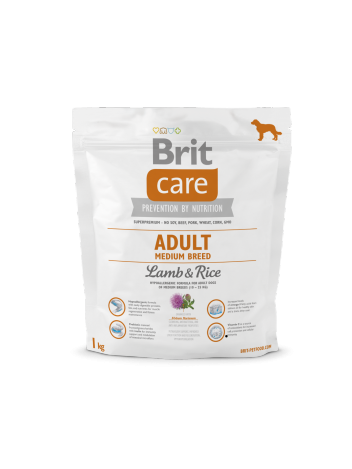 Brit Care Adult Medium Breed Lamb & Rice - 1kg