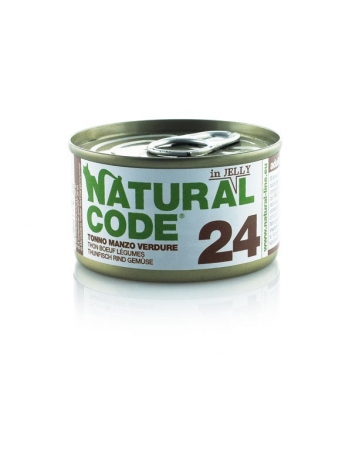 Natural Code Cat 24 Tuna, beef and vegetables in jelly 85g