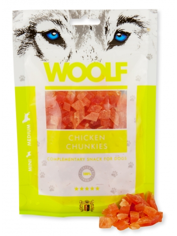 Woolf Chicken Chunkies 100g