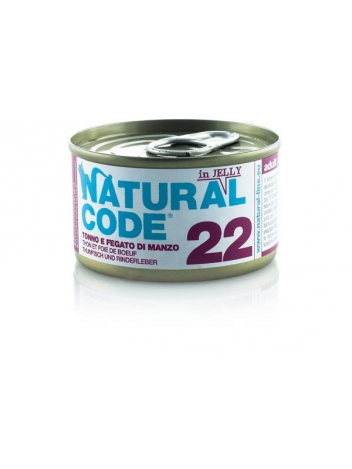 Natural Code Cat 22 Tuna and beef liver in jelly 85g
