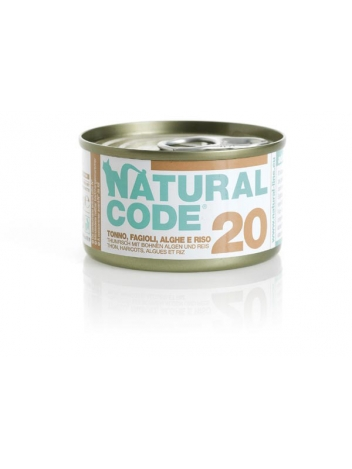 Natural Code Cat 20 Tuna, beans and seaweeds 85g