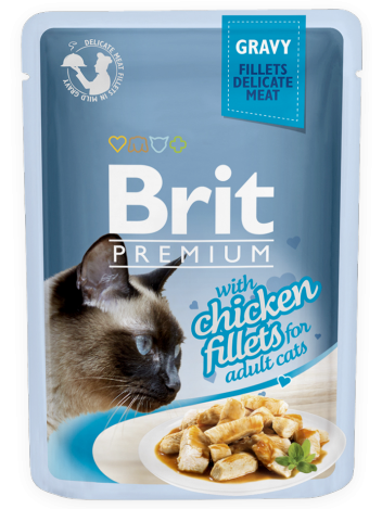 Brit Premium Cat Adult Chicken Fillets w sosie 85g
