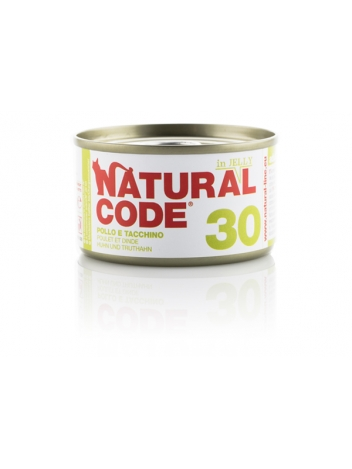 Natural Code Cat 30 Chicken and turkey in jelly 85g