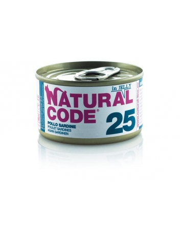Natural Code Cat 25 Chicken and sardines in jelly 85g