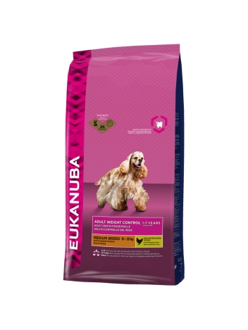 Eukanuba Adult Weight Control Medium Breed - 15kg