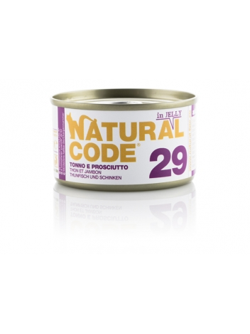 Natural Code Cat 29 Tuna and ham in jelly 85g