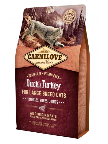 Carnilove Cat Large Breed Duck & Turkey - 2kg