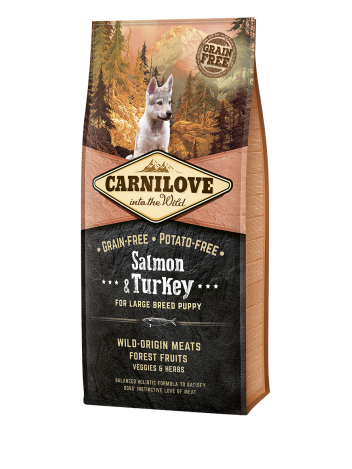 Carnilove Puppies Large Salmon & Turkey - 12kg