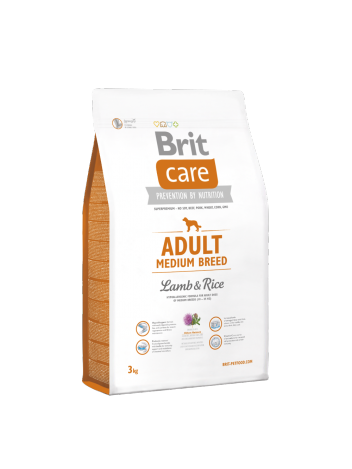 Brit Care Adult Medium Breed Lamb & Rice - 3+1kg
