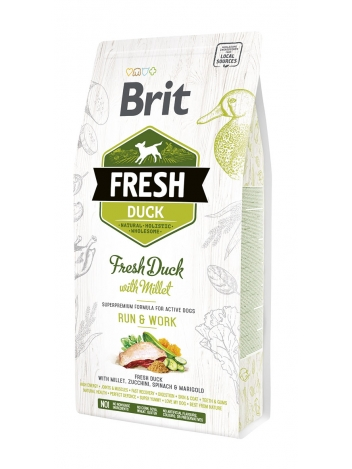 Brit Fresh Duck & Millet Run & Work - 2,5kg