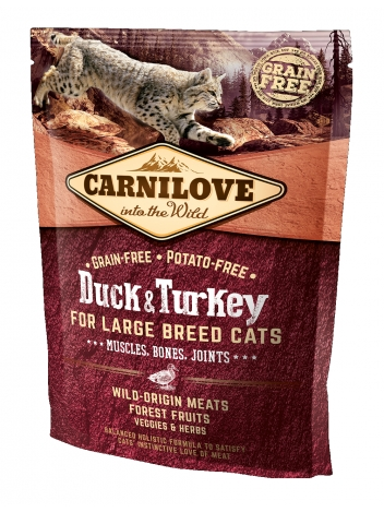 Carnilove Cat Large Breed Duck & Turkey - 0,4kg