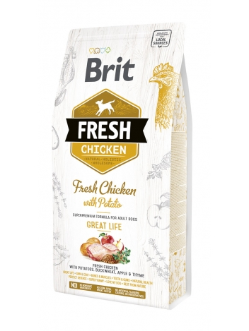 Brit Fresh Adult Chicken & Potato - 2,5kg