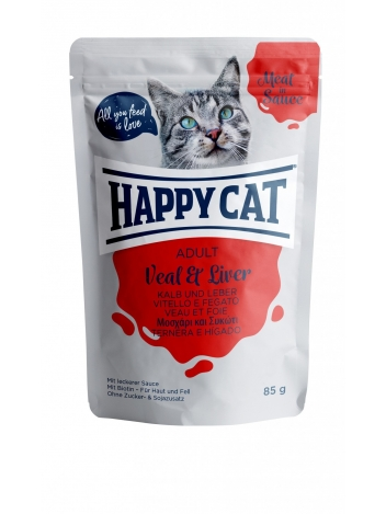 Happy Cat Meat in Sauce Adult Veal & Liver 85g