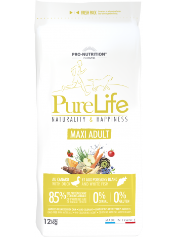 Pure Life Maxi Adult with duck and white fish 12kg