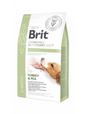 Brit Veterinary Diets Grain Free Diabetes Turkey & Pea 2kg