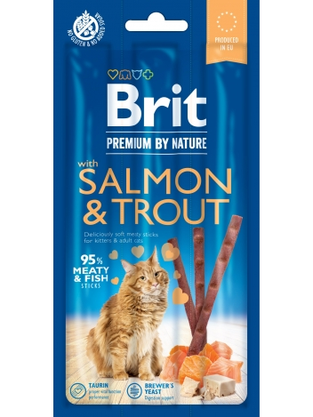 Brit Premium by Nature Cat Sticks Salmon & Trout 15g
