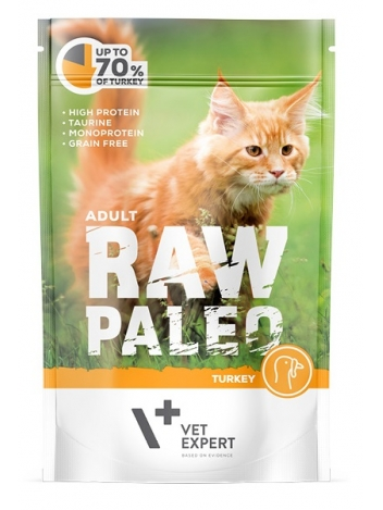 Raw Paleo Cat Adult Turkey 100g