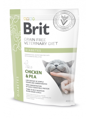 Brit Veterinary Diets Grain Free Diabetes Chicken & Pea 400g
