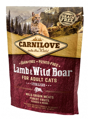 Carnilove Cat Lamb & Wild Boar Sterilised - 0,4kg