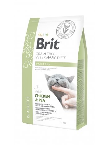 Brit Veterinary Diets Grain Free Diabetes Chicken & Pea 2kg