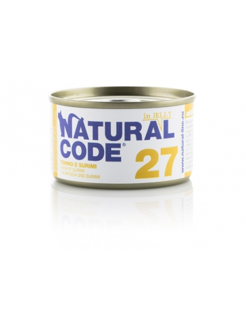 Natural Code Cat 27 Tuna and surimi in jelly 85g