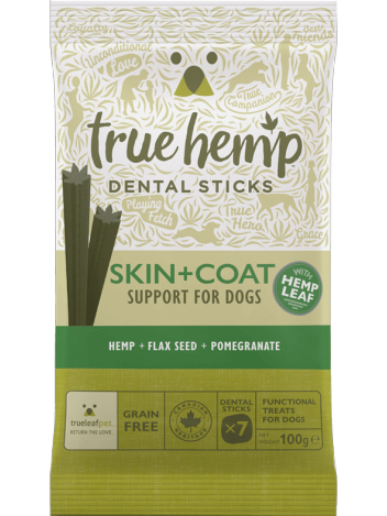 Dental sticks na sierść dla psa True Hemp 100g