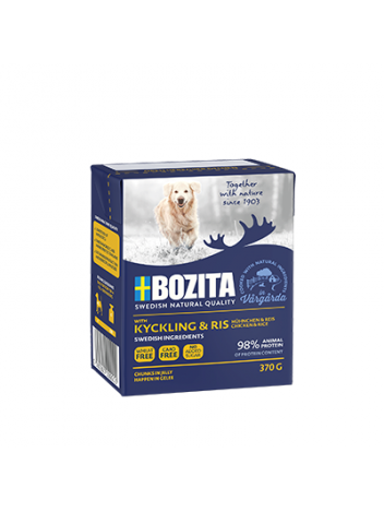 Bozita Chicken & Rice – chunks in jelly 370g