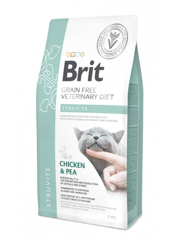 Brit Veterinary Diets Grain Free Struvite Chicken & Pea 5kg