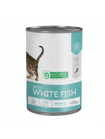 Nature's Protection Adult Cat Sensitive Digestion White Fish 400g