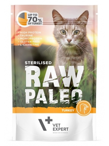 Raw Paleo Cat Sterilised Turkey 100g