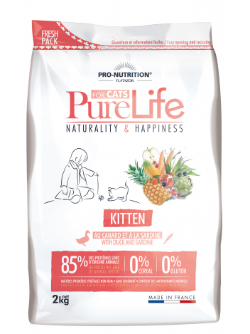 Pure Life for cats Kitten with duck and sardine 2kg