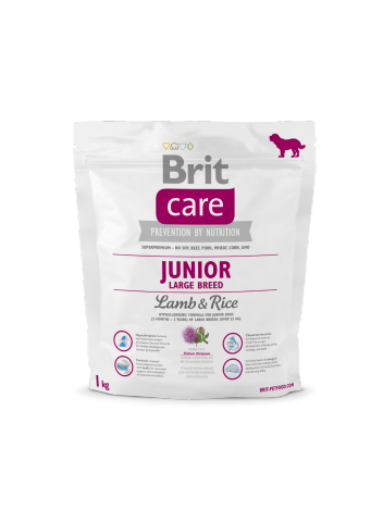 Brit Care Junior Large Breed Lamb & Rice - 1kg