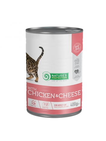 Nature's Protection Adult Cat Chicken & Cheese 400g