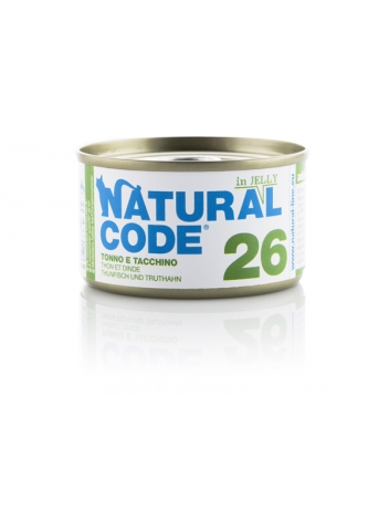 Natural Code Cat 26 Tuna and turkey in jelly 85g
