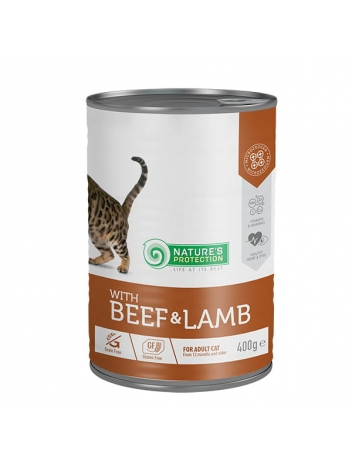 Nature's Protection Adult Cat Beef & Lamb 400g