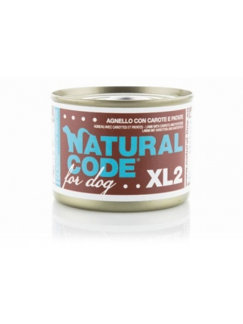 Natural Code DOG XL2 Lamb with carrots and potatoes 185g