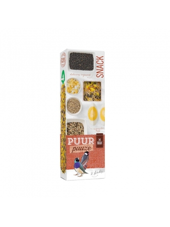 Puur pauze seed sticks tropical bird with wild seeds & egg 60g