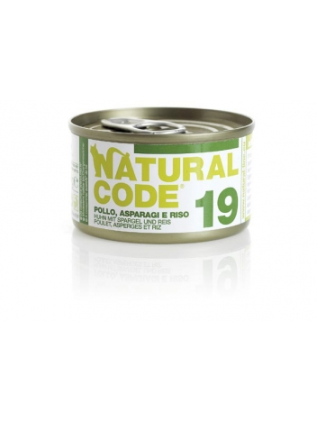 Natural Code Cat 19 Chicken, asparaguses and rice 85g