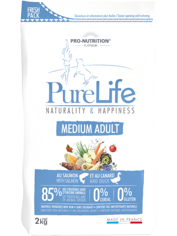 Pure Life Medium Adult with salmon and duck 2kg
