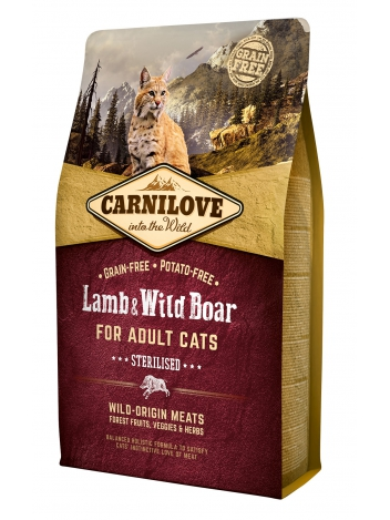 Carnilove Cat Lamb & Wild Boar Sterilised - 2kg
