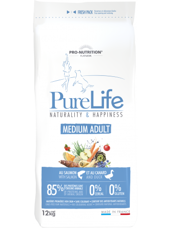 Pure Life Medium Adult with salmon and duck 12kg