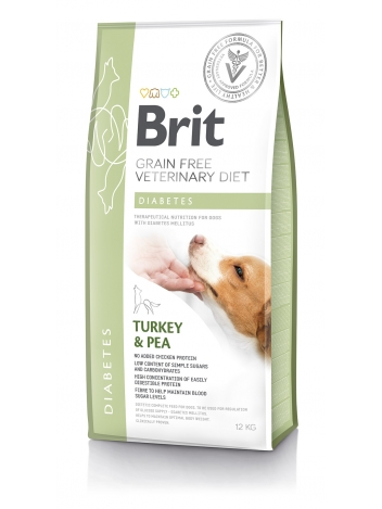 Brit Veterinary Diets Grain Free Diabetes Turkey & Pea 12kg