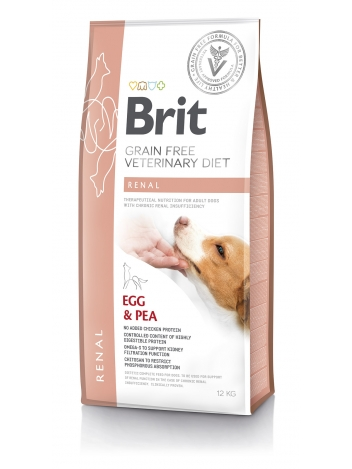 Brit Veterinary Diets Grain Free Renal Egg & Pea 12kg